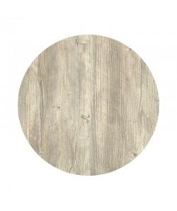 Tablero de mesa Werzalit-SM, PONDEROSA BLANCO 178, 80 cms de diámetro*.