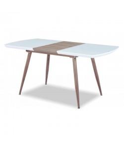 Mesa SOHAIL, extensible, metal, madera, cristal,140 ~ 180 x 80 cms.