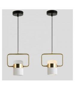 Lámpara ANTARES, colgante, metal, blanco