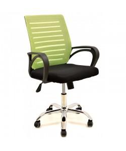 Sillón de oficina SUNSET, negro, gas, basculante, malla verde pistacho, tejido negro