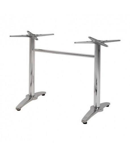 Base de mesa ROMA, rectangular, inoxidable y aluminio*