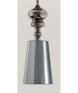 Lámpara LOUVRE, colgante, cromada, pantalla plata
