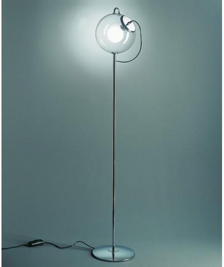 Lámpara MAGA, pie salón, tulipa cristal