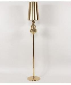 Lámpara LOUVRE, pie salón, dorada, pantalla dorada