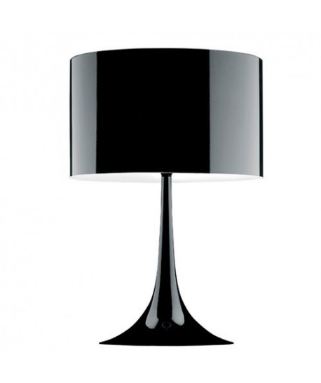 Lámpara LUGANO, sobremesa, negra, pantalla negra