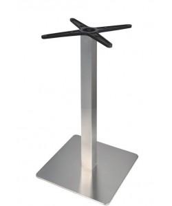 Base de mesa RHIN, acero inoxidable, 45*45*73 cms, pulido satinado