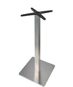 Base de mesa RHIN, alta, acero inoxidable, 45*45*110 cms, pulido satinado