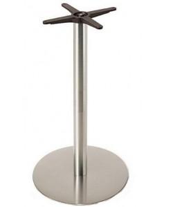 Base de mesa VOLGA, alta, acero inoxidable, 45*110 cms. pulido satinado