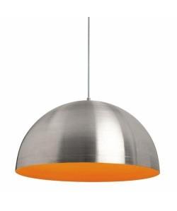 Lámpara LUCY, colgante, pantalla aluminio interior naranja