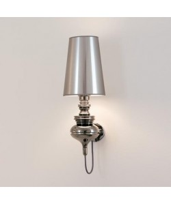 Lámpara LOUVRE, aplique de pared, cromado, pantalla plata
