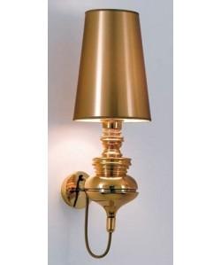 Lámpara LOUVRE, aplique de pared, dorado, pantalla dorada