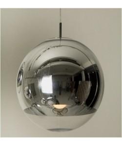 Lámpara LEO, colgante, cristal, cromado - transparente, 25 cms de diámetro