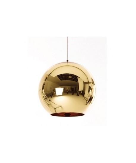 Lámpara HUGO, colgante, cristal, dorada, 25 cms de diámetro