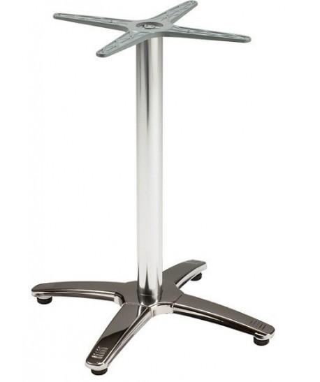 Base de mesa ROMA, 4 brazos, inoxidable y aluminio*