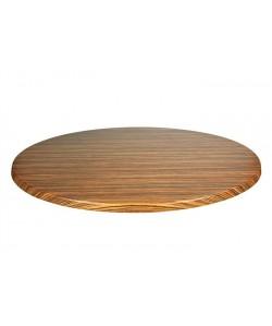 Tablero de mesa Topalit -Mono - ZEBRANO LIGHT, 60 cms de diámetro*.