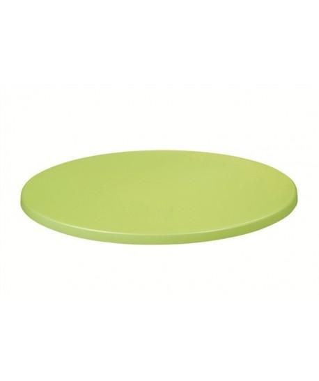 Tablero de mesa Topalit -Mono - VERDE LIMA 408, 60 cms de diámetro*.
