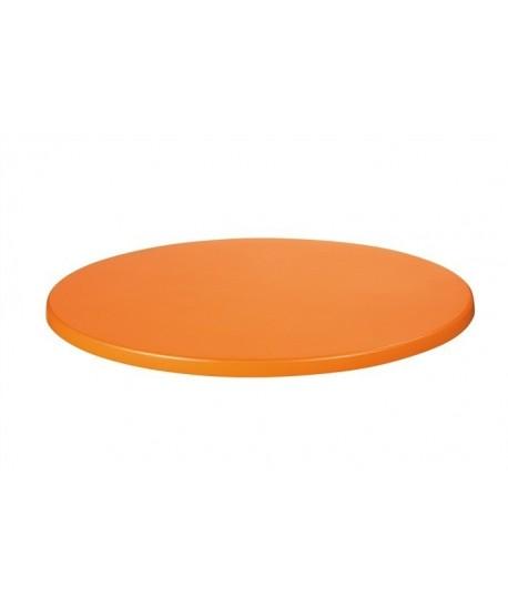 Tablero de mesa Werzalit, NARANJA 326, 70 cms de diámetro*.
