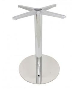 Base de mesa VOLGA, acero inoxidable, 45*73 cms, pulido brillo
