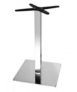 Base de mesa RHIN, acero inoxidable, 45*45*73 cms, pulido brillo