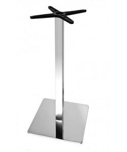 Base de mesa RHIN, alta, acero inoxidable, 45x45*110 cms, pulido brillo
