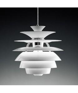 Lámpara CYGNY, aluminio, blanca, 40 cms de diámetro