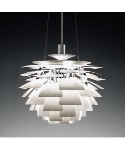 Lámpara ARTIC, aluminio, blanca, 48 cms. de diámetro