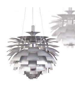Lámpara ARTIC, aluminio, plata, 60 cms. de diámetro
