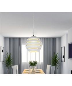 Lámpara CEPHEY, colgante, aluminio, color blanco