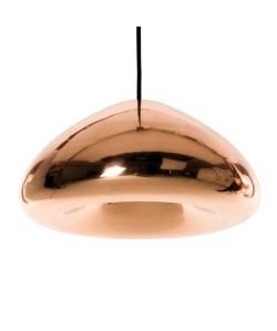 Lámpara ALIOTH, colgante, cristal bronce