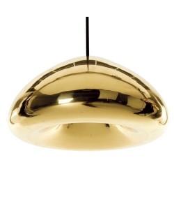 Lámpara ALIOTH, colgante, cristal dorado