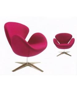 Sillón SW 30, tapizado tejido cachemir pink