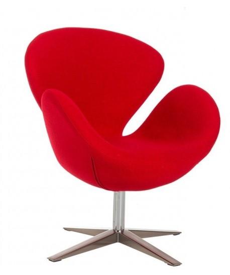 Sillón SW 30, tapizado tejido cachemir rojo