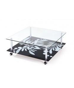 Mesa DURCAL, cristal, 100 x 100 cms