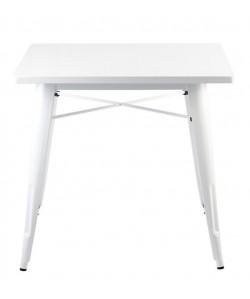 Mesa TOL, acero, blanca, 80x80 cms