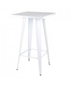 Mesa TOL, alta, acero, blanca, 60x60 cms