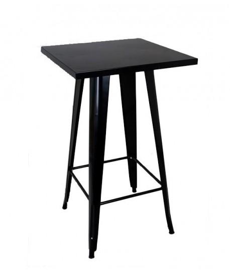 Mesa TOL, alta, acero, negra, 60x60 cms