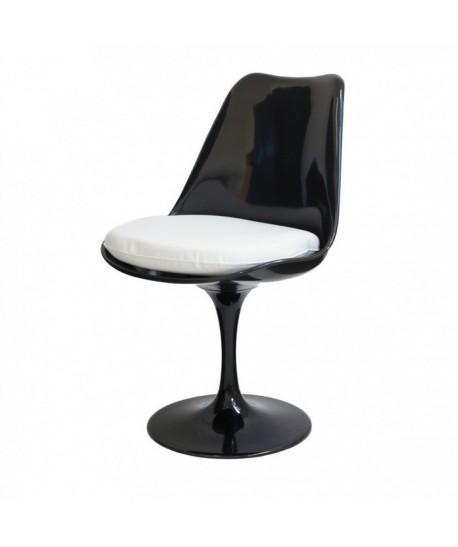 Silla TUL, abs negro, cojin blanco