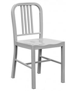 Silla NAO, acero, gris plata
