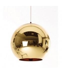 Lámpara HUGO, colgante, cristal, dorada, 30 cms de diámetro