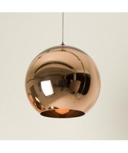 Lámpara HUGO, colgante, cristal, color cobre, 30 cms de diámetro