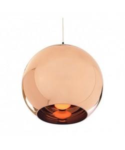 Lámpara HUGO, colgante, cristal, color cobre, 40 cms de diámetro