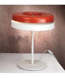Lámpara DUBHE, sobremesa, rojo - blanco