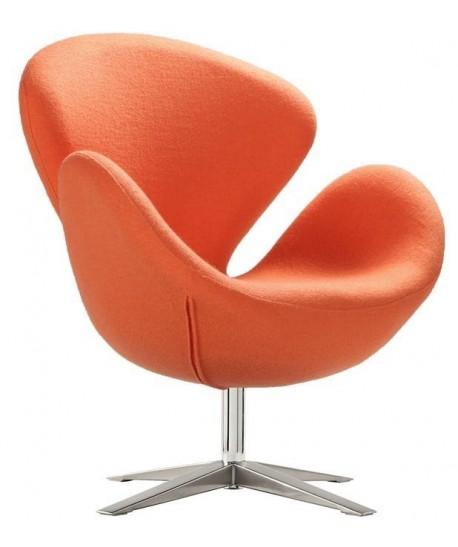 Sillón SW 30, tapizado tejido cachemir naranja