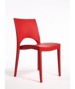 Silla SABA, polipropileno color rojo