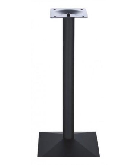 Base de mesa DANUBIO, alta, negra, 40*40*110 cms