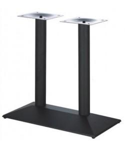 Base de mesa DANUBIO, rectangular, negra, 70*40*72 cms
