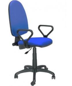 Silla de oficina PRE50, brazos, tejido A20 azul