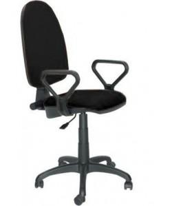 Silla de oficina PRE50, brazos, tejido A1 negro