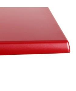 Tablero de mesa Werzalit, ROJO 328, 70 x 70 cms*