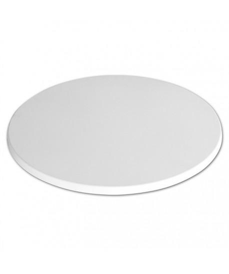 Tablero de mesa Werzalit-Sm, BLANCO 01, 60 cms de diámetro*.